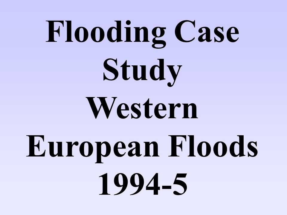 Western European Floods 1994-5