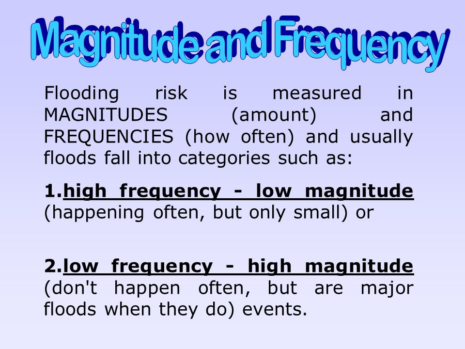 Magnitude and Frequency