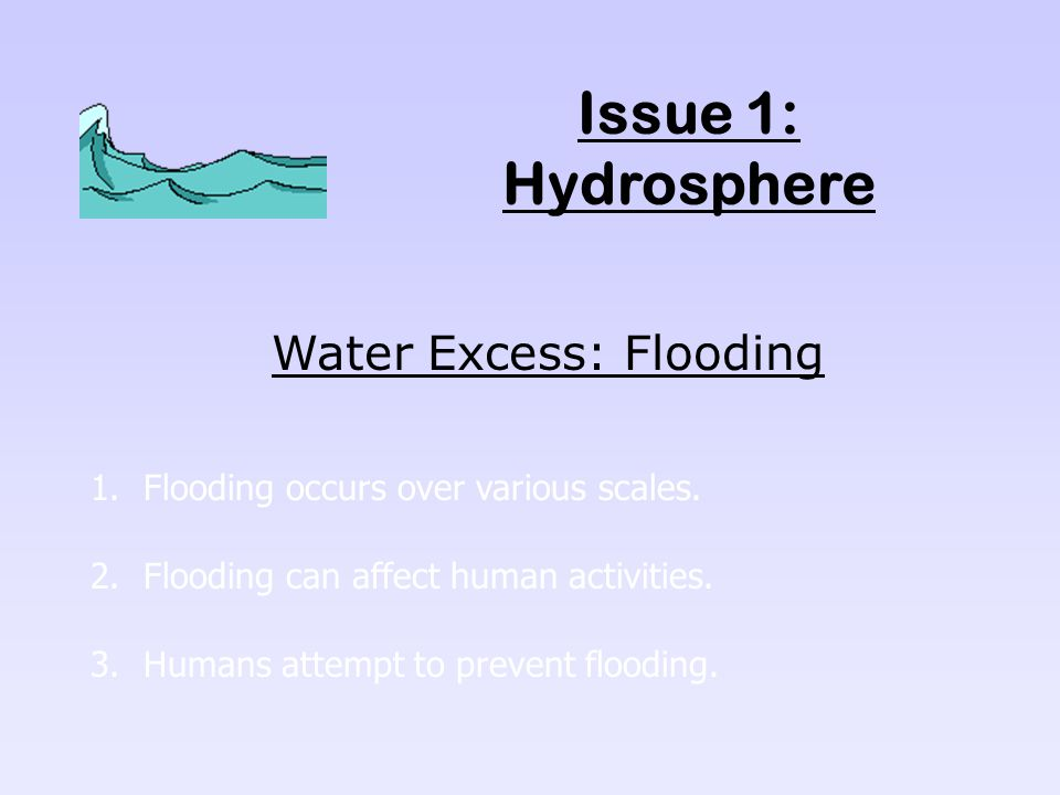 Water Excess: Flooding