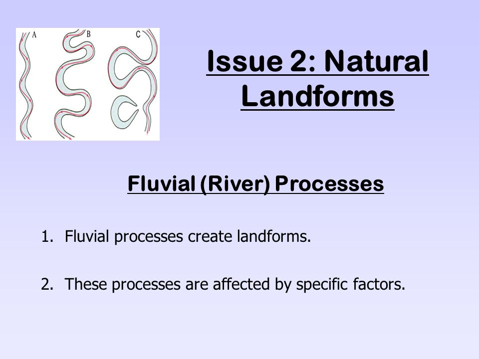 Issue 2: Natural Landforms Fluvial (River) Processes