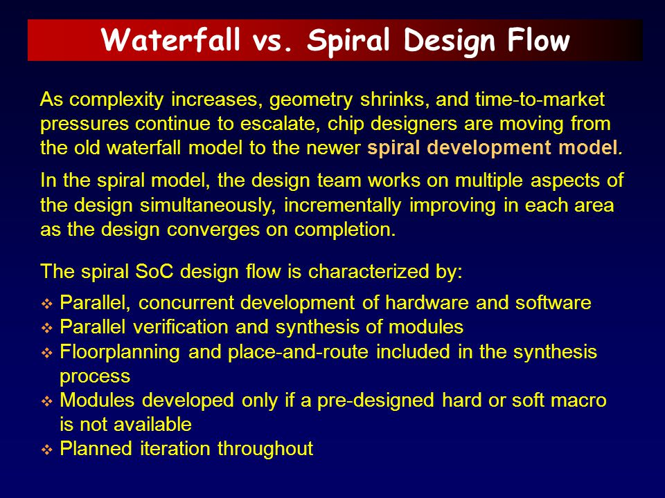 Waterfall vs. Spiral Design Flow