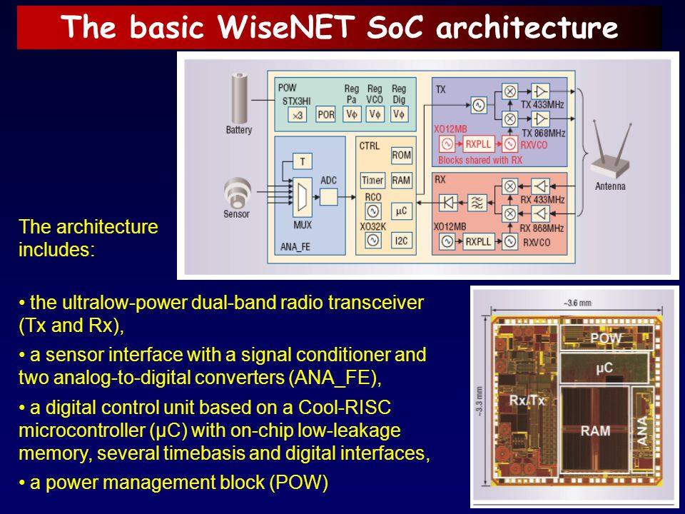 The basic WiseNET SoC architecture