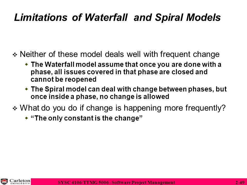 Limitations of Waterfall and Spiral Models