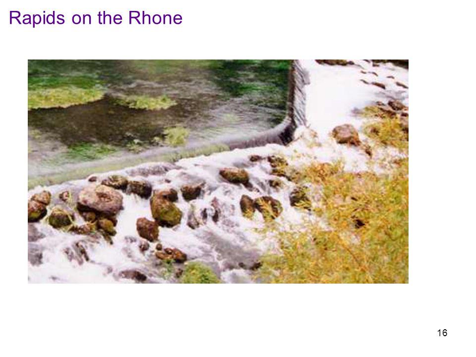 Rapids on the Rhone