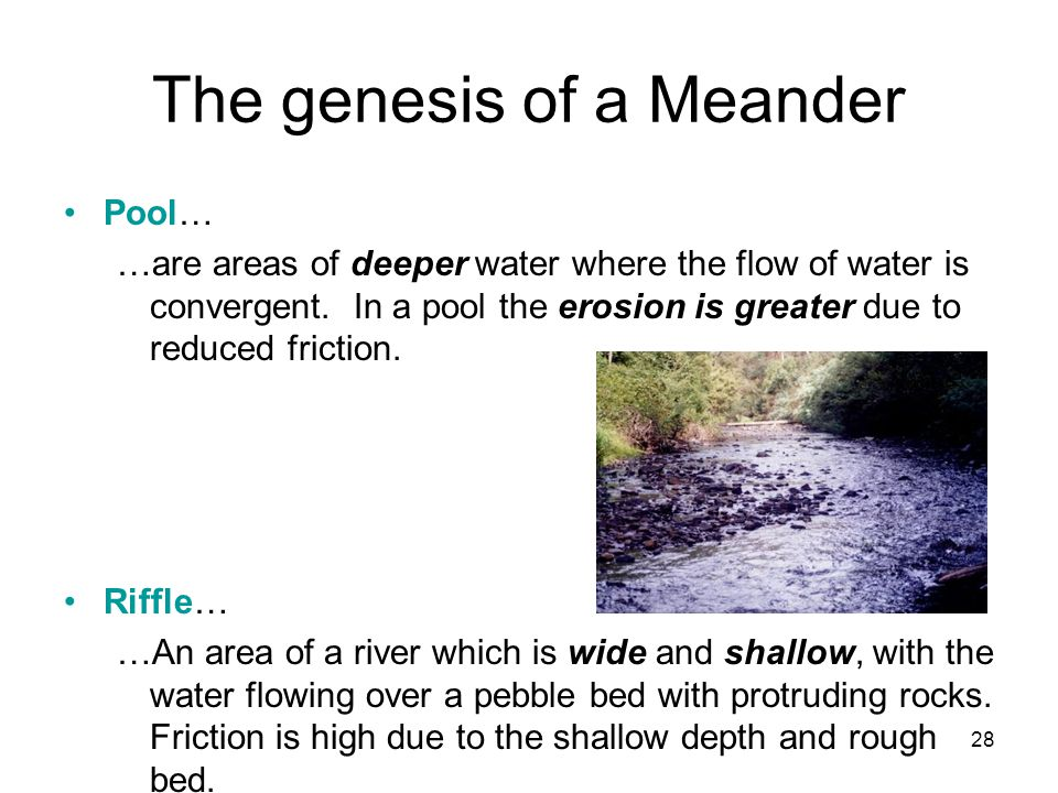 The genesis of a Meander