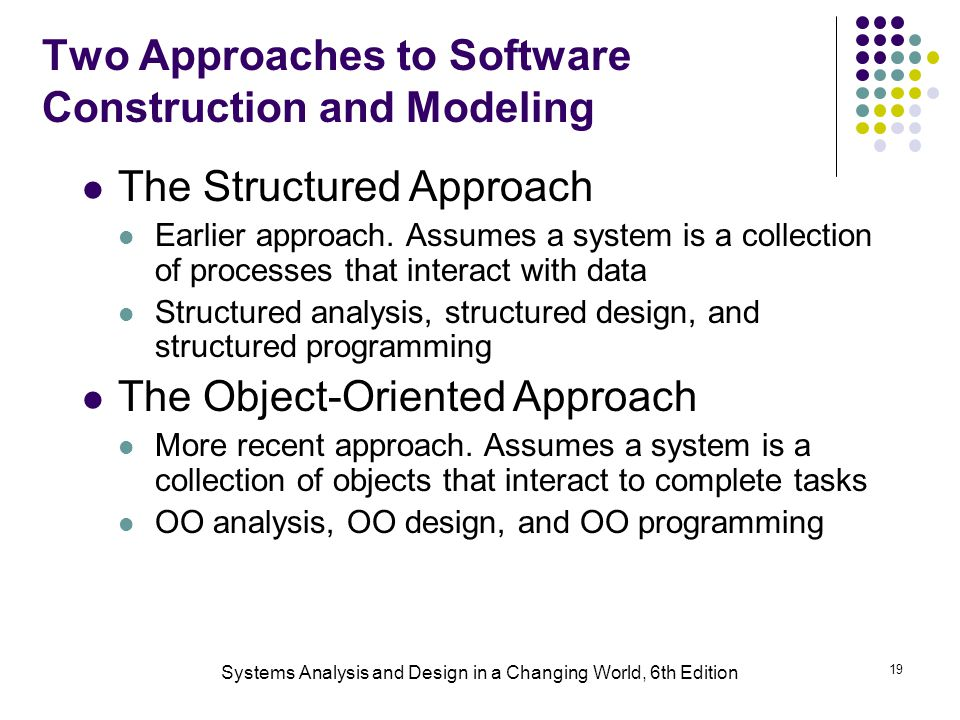 Two Approaches to Software Construction and Modeling
