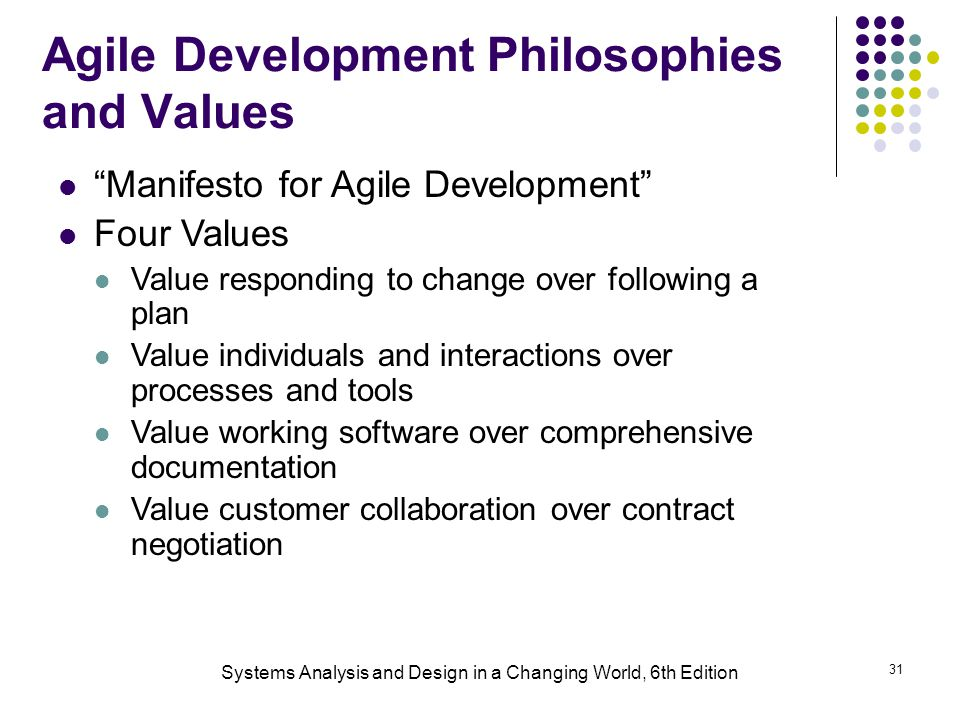 Agile Development Philosophies and Values