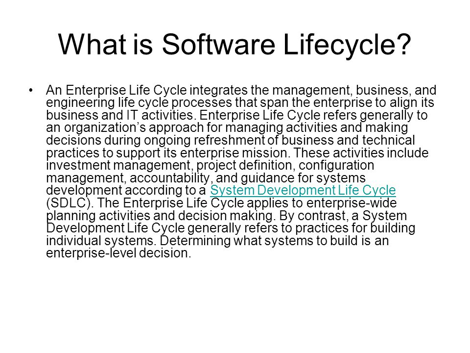 What is Software Lifecycle