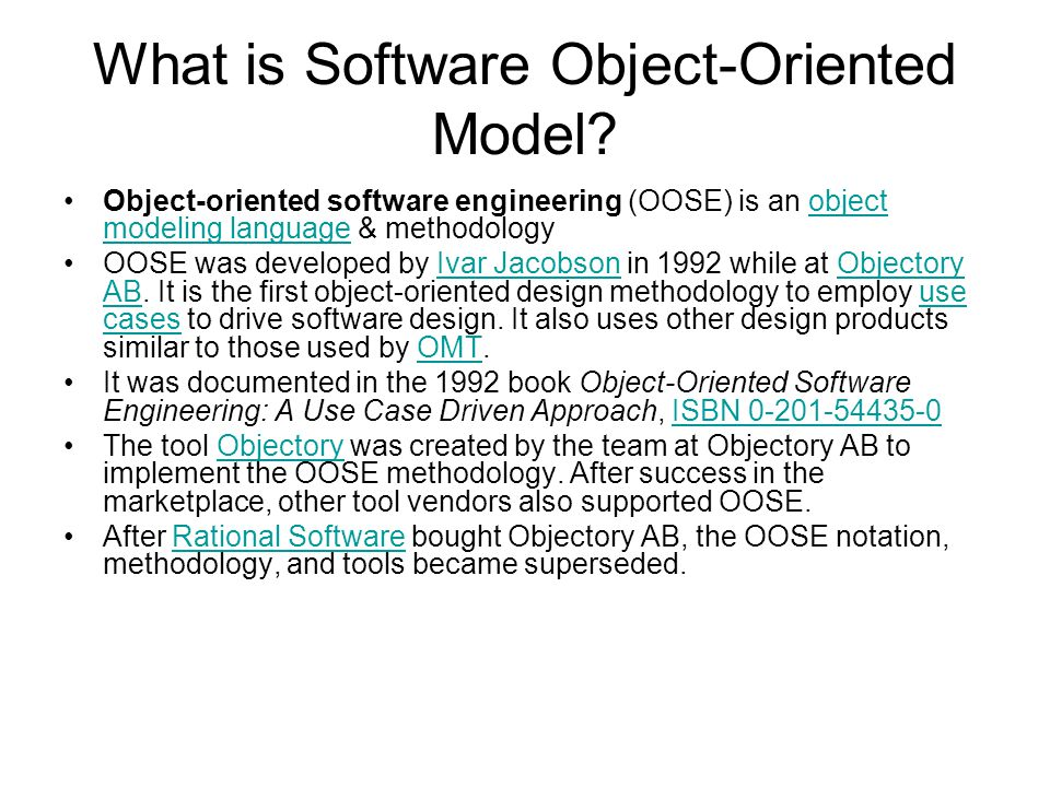 What is Software Object-Oriented Model