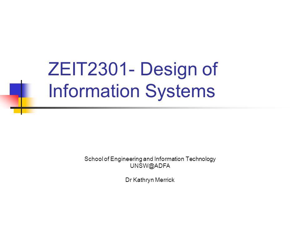 ZEIT2301- Design of Information Systems