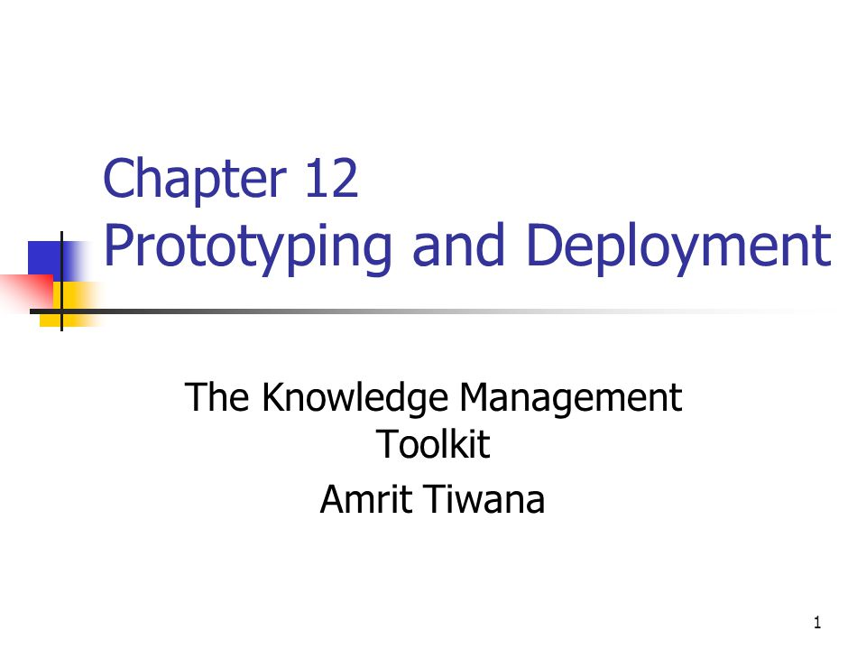 Chapter 12 Prototyping and Deployment