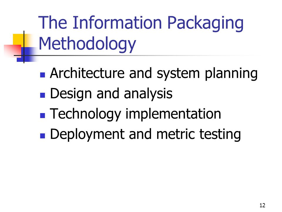 The Information Packaging Methodology