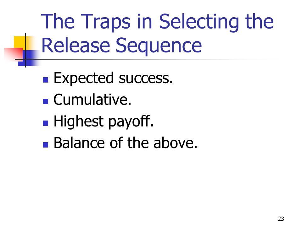 The Traps in Selecting the Release Sequence