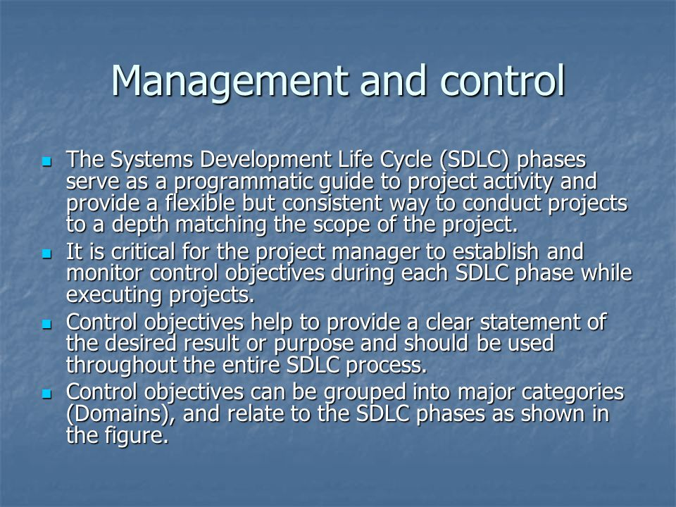 Management and control