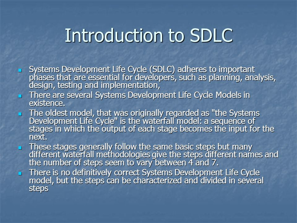 Introduction to SDLC