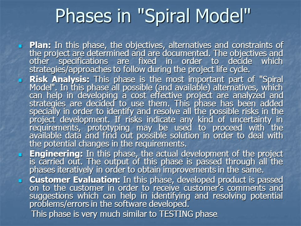 Phases in Spiral Model
