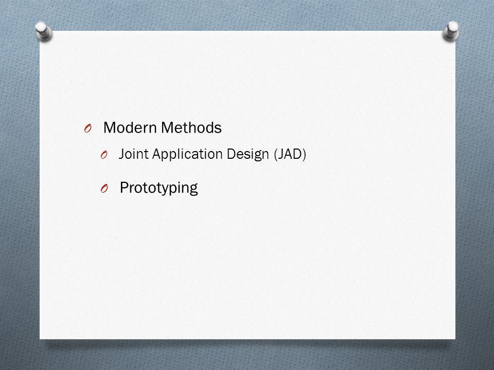 Modern Methods Joint Application Design (JAD) Prototyping