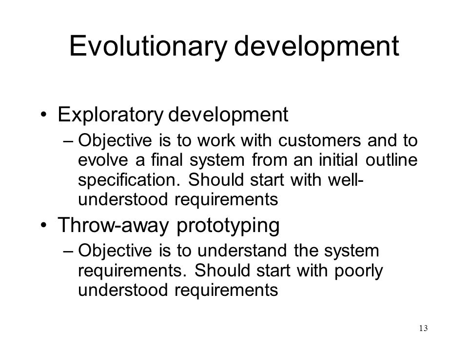 Evolutionary development
