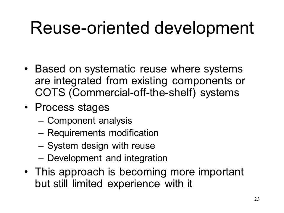 Reuse-oriented development