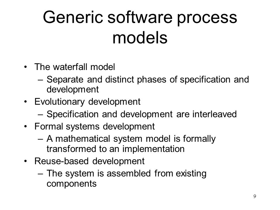 Generic software process models