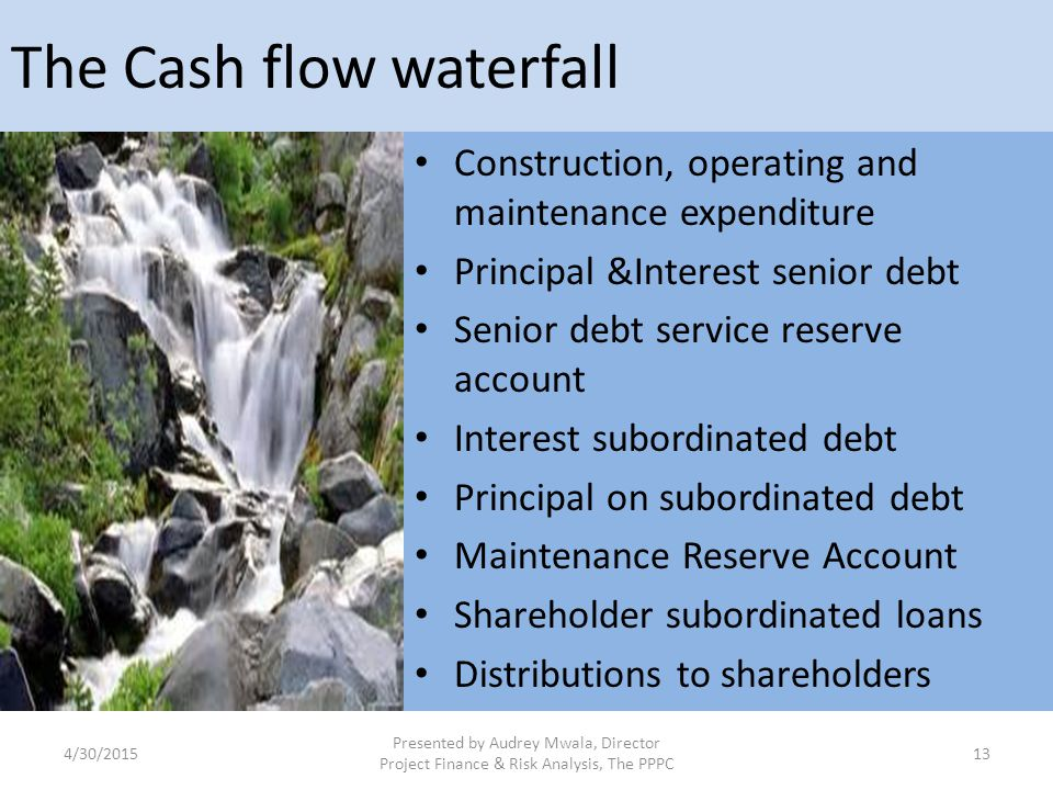 The Cash flow waterfall