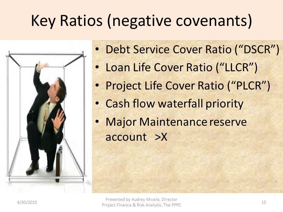Key Ratios (negative covenants)