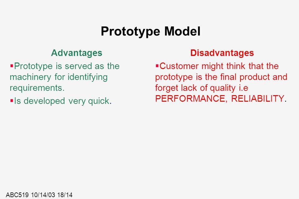 Prototype Model Advantages