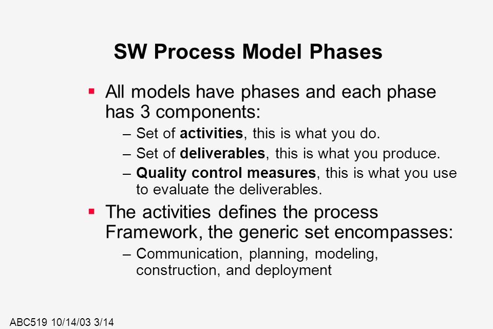 SW Process Model Phases