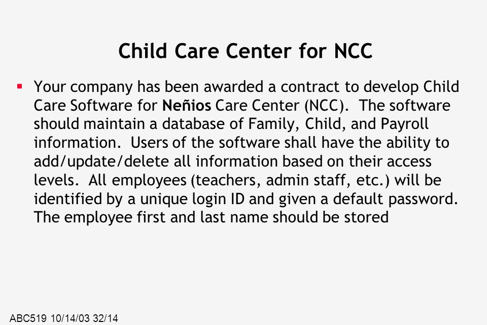 Child Care Center for NCC