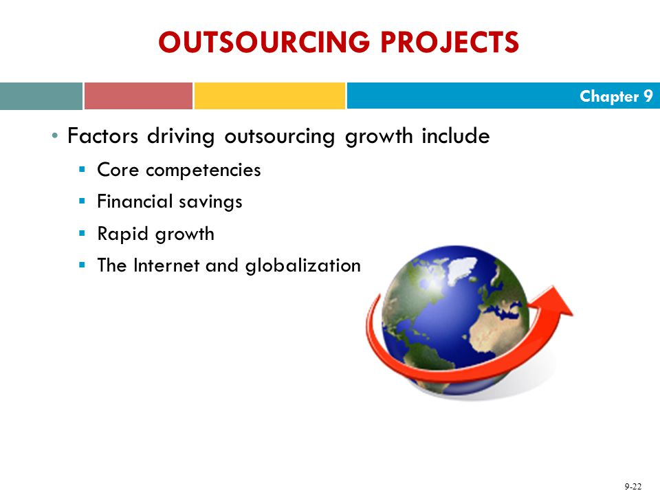 OUTSOURCING PROJECTS Factors driving outsourcing growth include