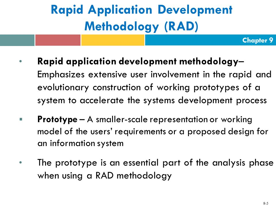 Rapid Application Development Methodology (RAD)