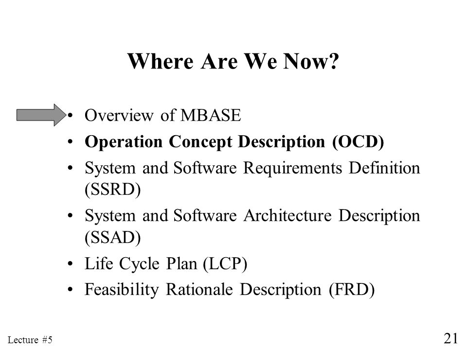 Where Are We Now Overview of MBASE