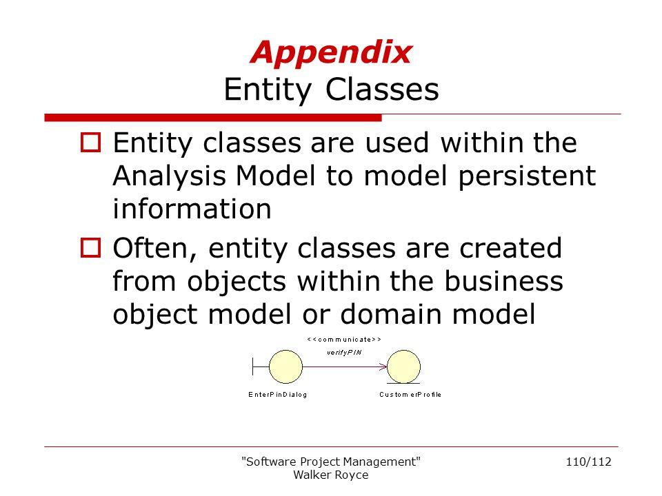 Appendix Entity Classes