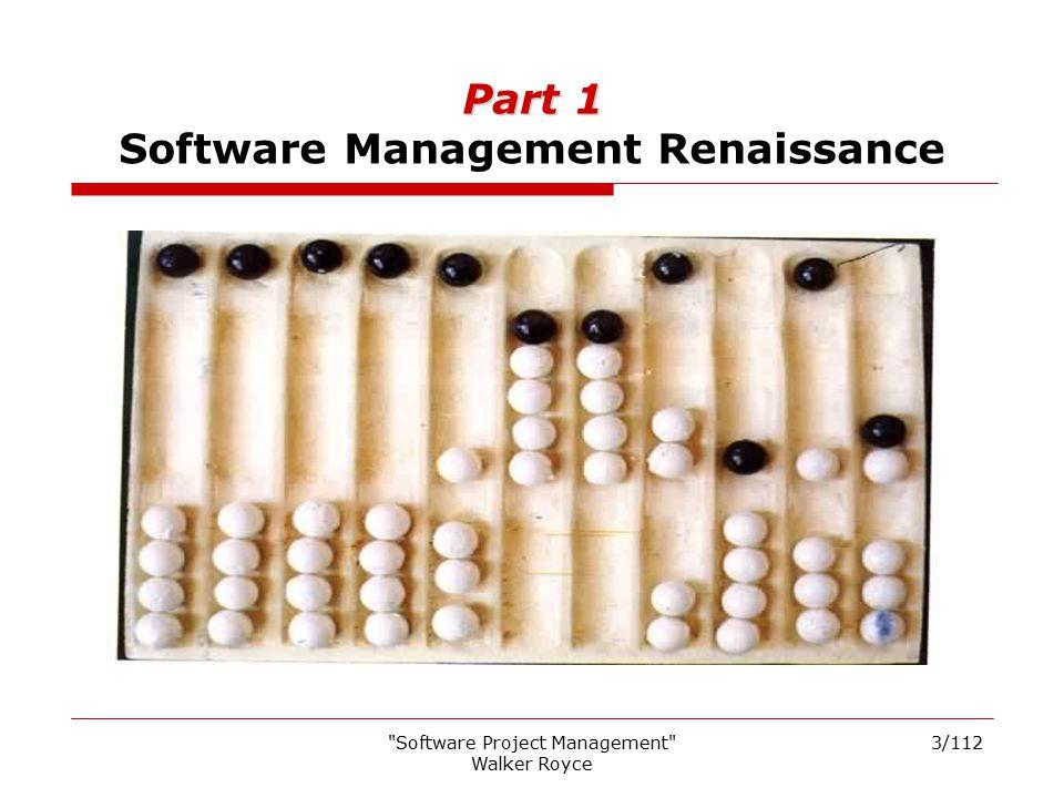 Part 1 Software Management Renaissance