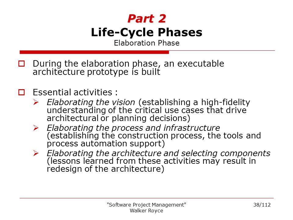 Part 2 Life-Cycle Phases Elaboration Phase