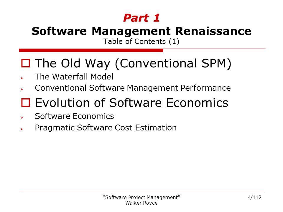 Part 1 Software Management Renaissance Table of Contents (1)