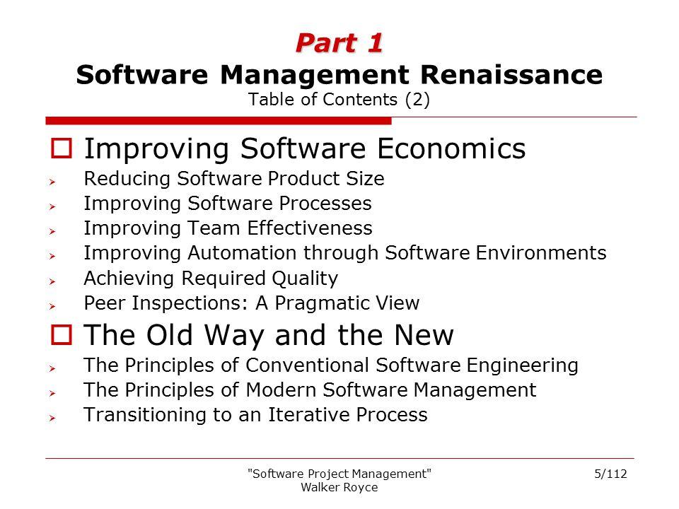 Part 1 Software Management Renaissance Table of Contents (2)