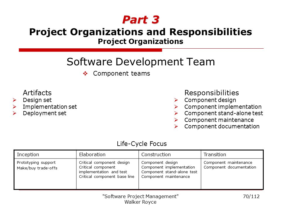 Part 3 Project Organizations and Responsibilities Project Organizations