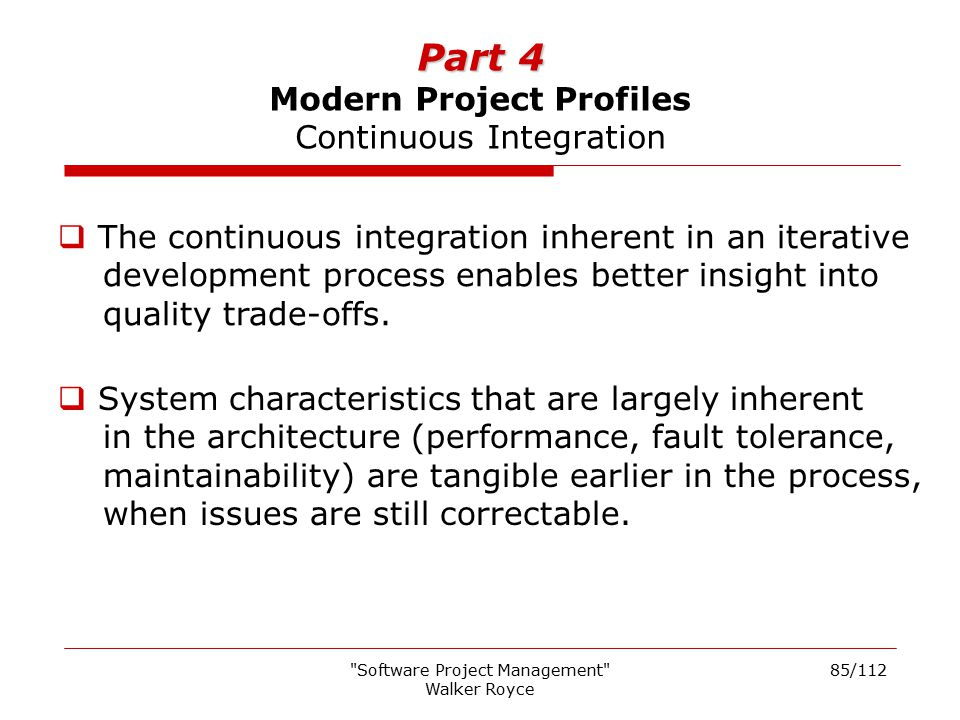 Part 4 Modern Project Profiles Continuous Integration