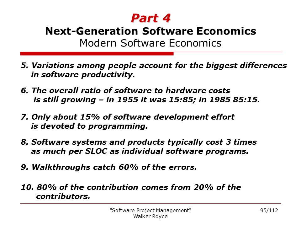 Part 4 Next-Generation Software Economics Modern Software Economics