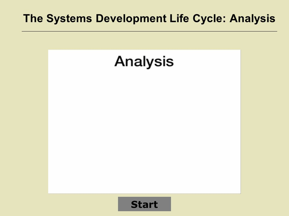 The Systems Development Life Cycle: Analysis