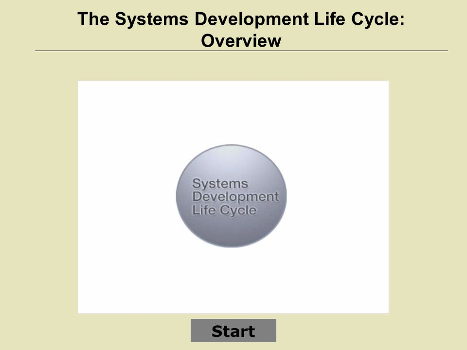 The Systems Development Life Cycle: Overview