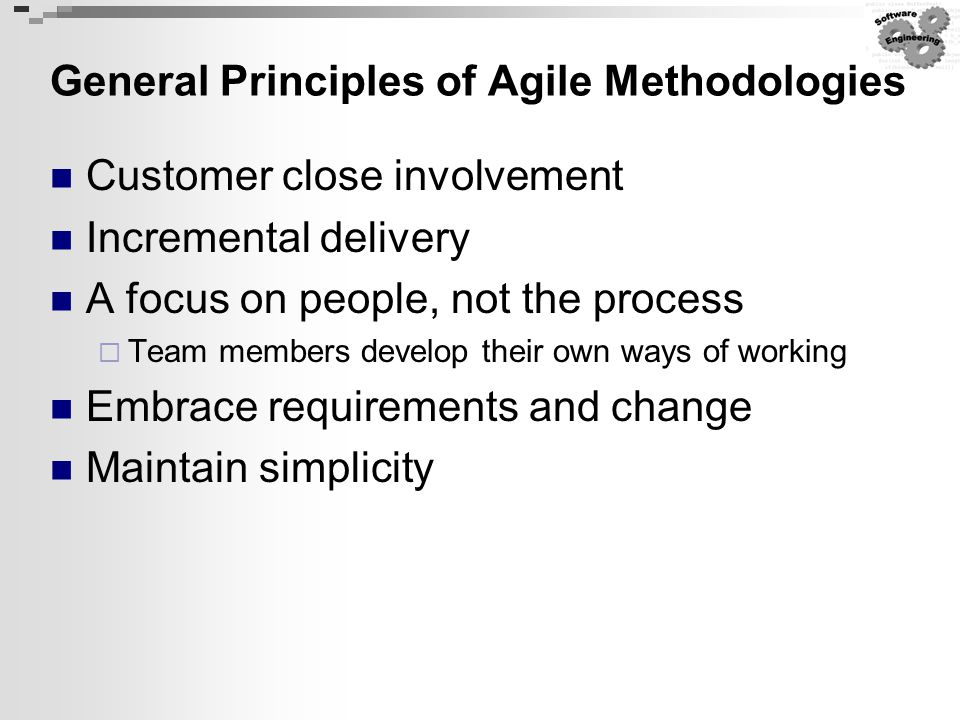 General Principles of Agile Methodologies