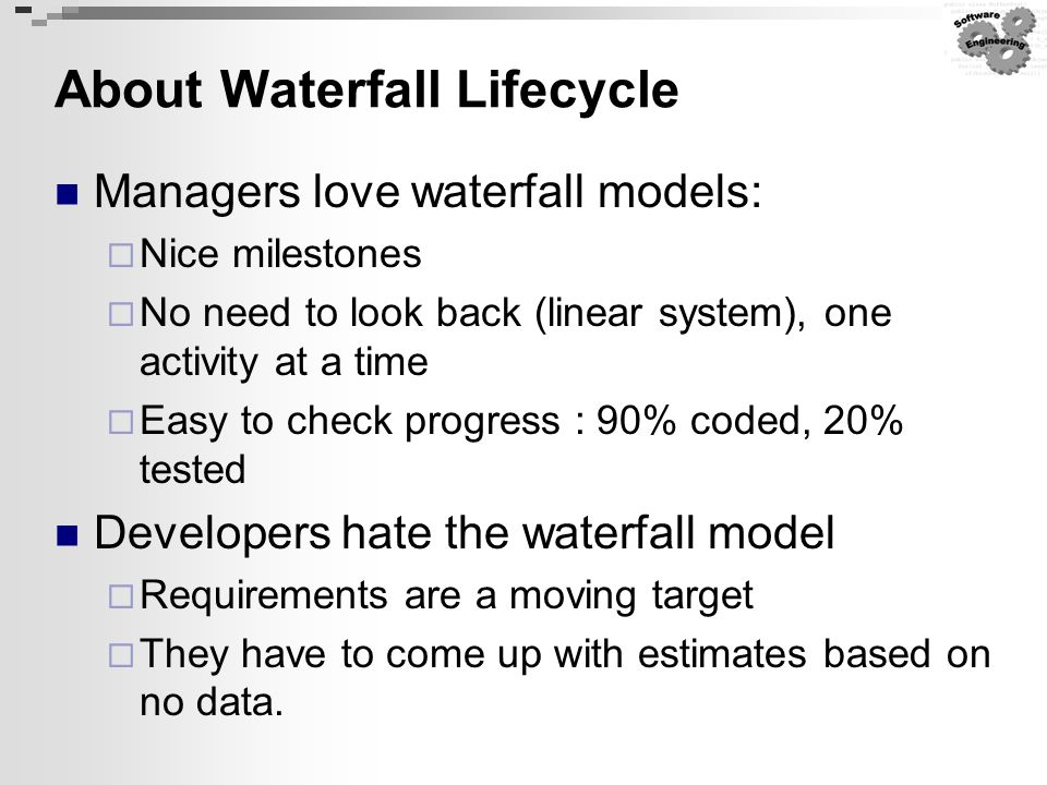 About Waterfall Lifecycle