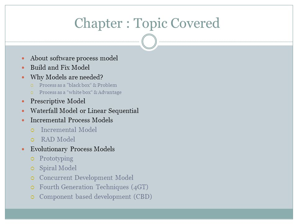 Chapter : Topic Covered