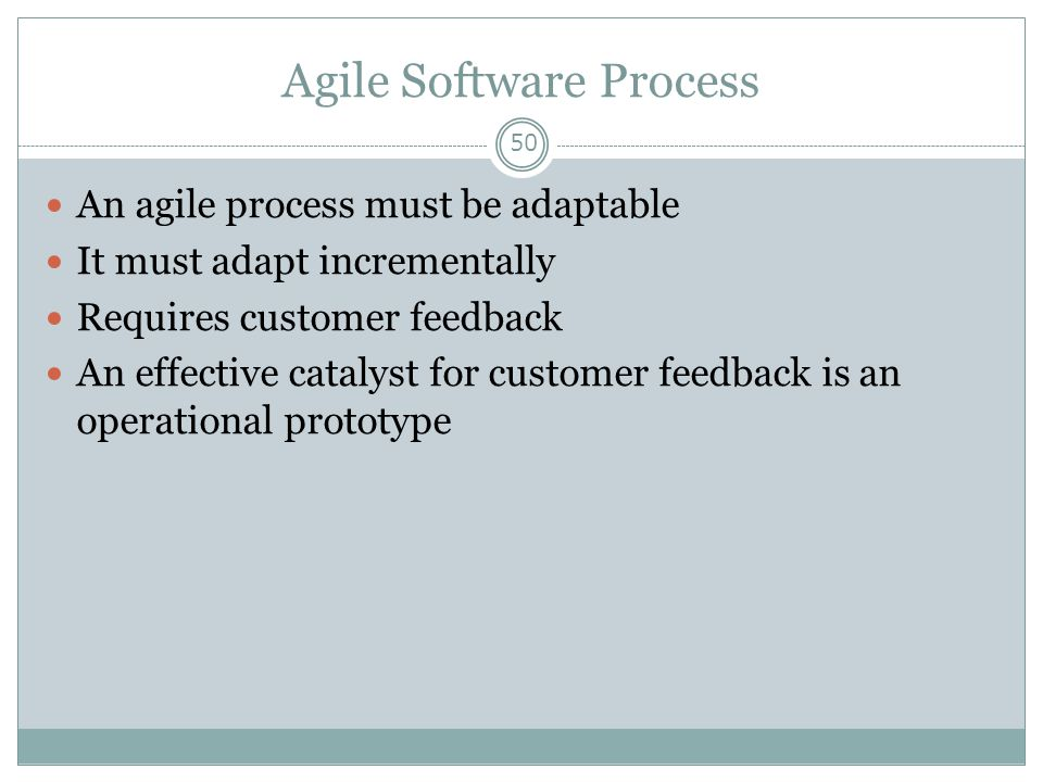 Agile Software Process