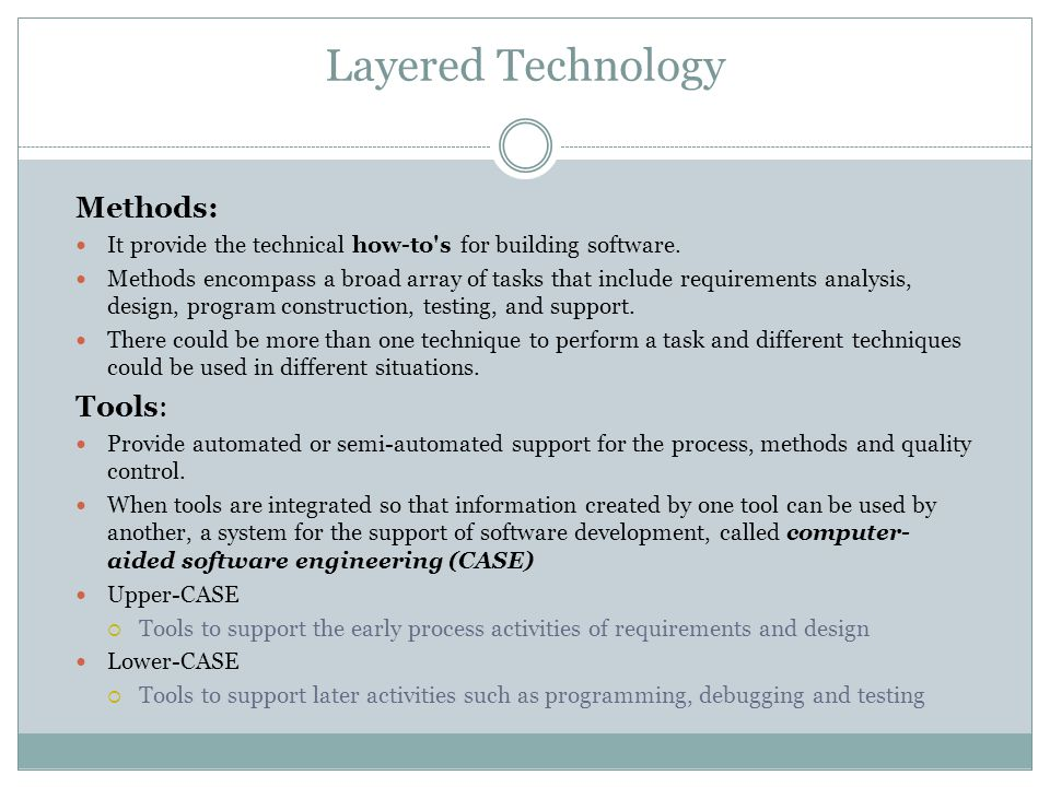 Layered Technology Methods: Tools: