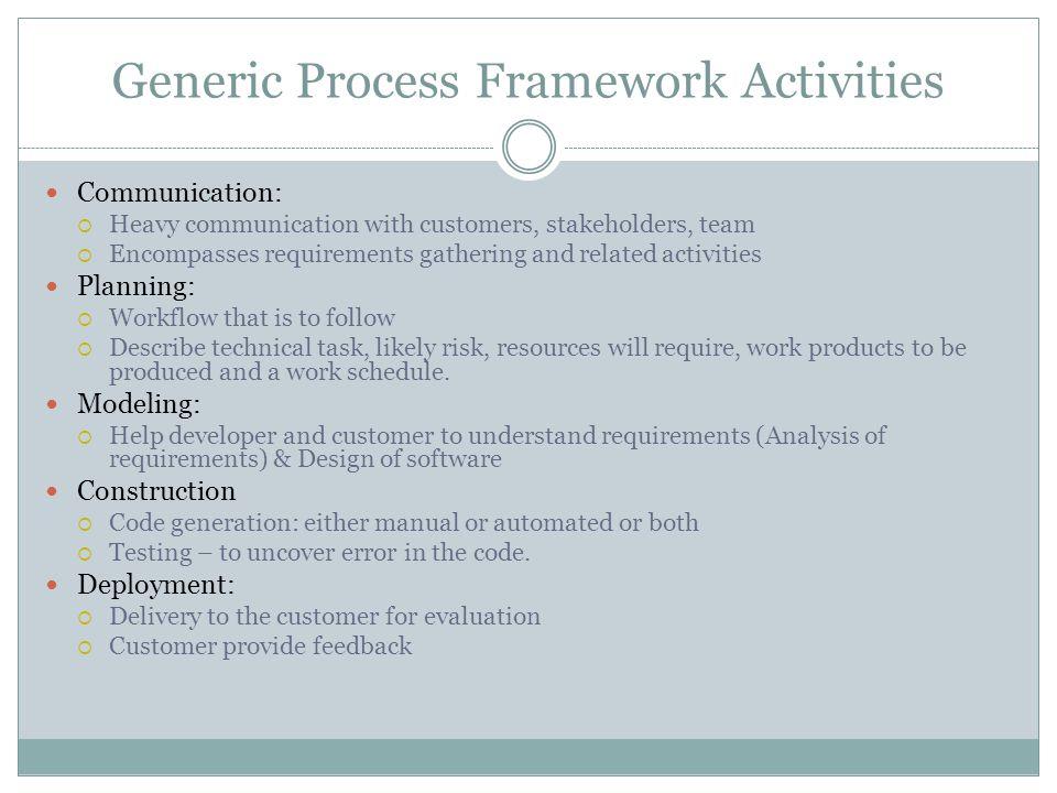 Generic Process Framework Activities