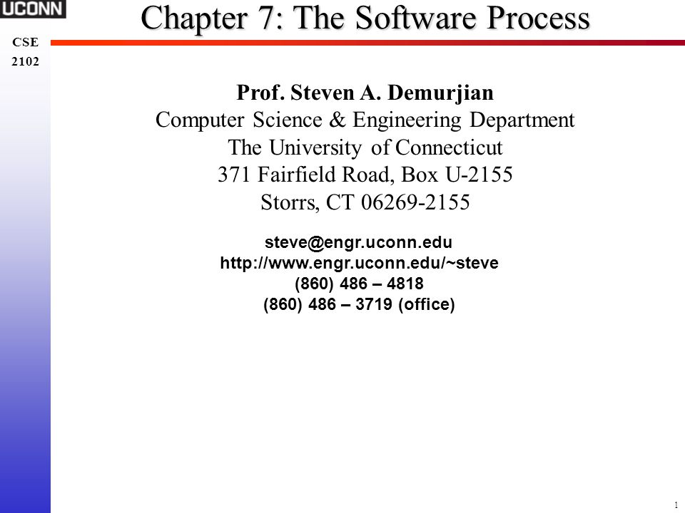 Chapter 7: The Software Process