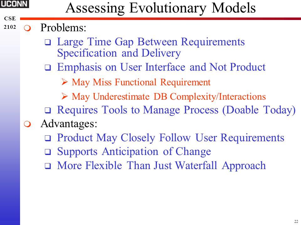 Assessing Evolutionary Models